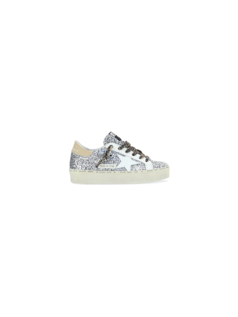 Golden Goose Hi Star Sneakers - Glitter argento