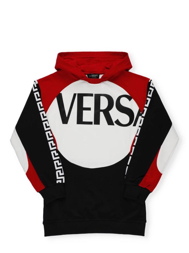 Versace Medusa Sweatshirt - Rosso+Bianco+Nero