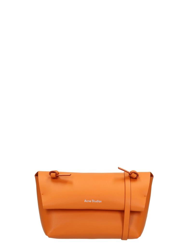 Acne Studios Alexandria Larg Shoulder Bag In Orange Leather - orange