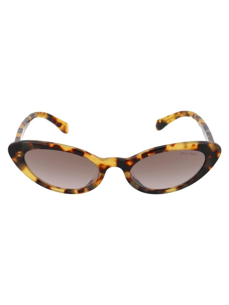 Miu Miu 0mu 09usa Sunglasses - 7S0QZ9 LIGHT HAVANA
