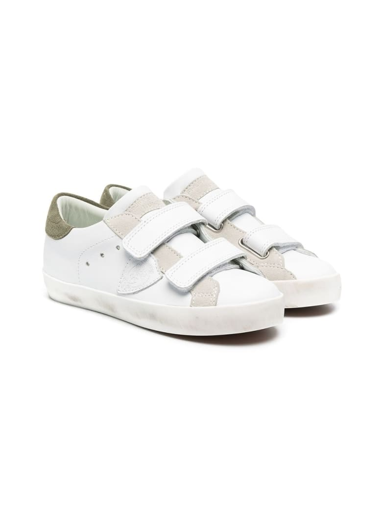 Philippe Model Paris Sportif Sneakers With Suede Inlays - White