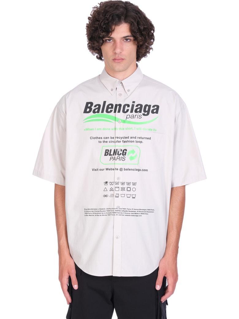 Balenciaga Shirt In Grey Cotton - grey
