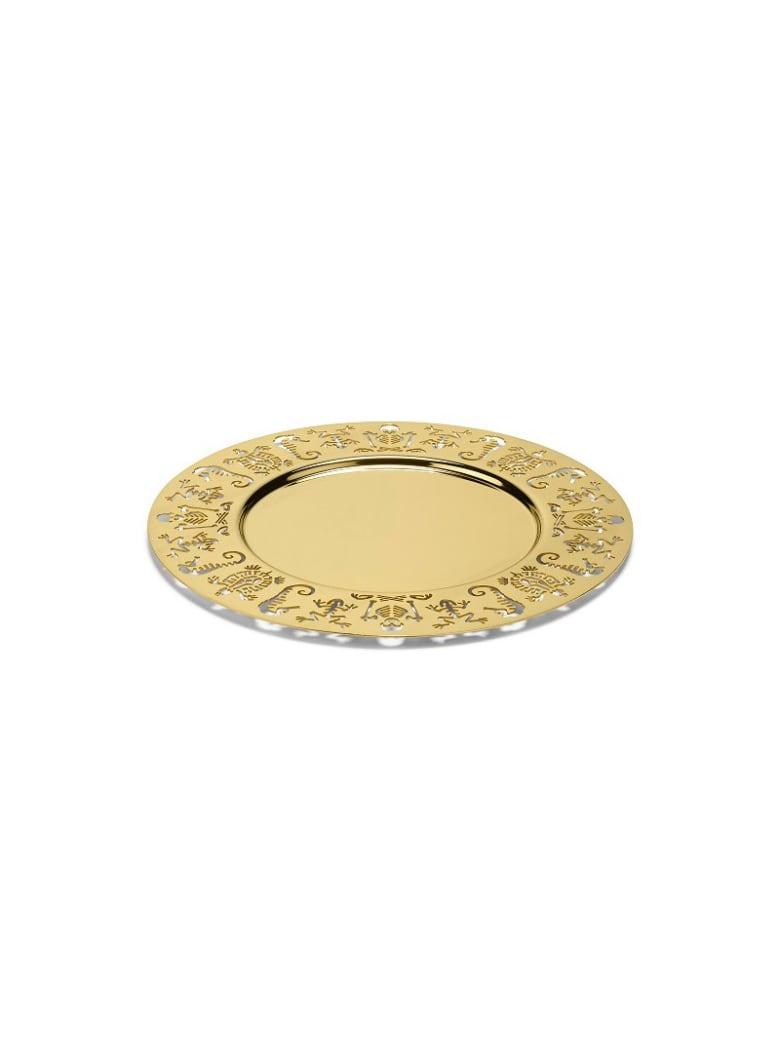 Ghidini 1961 Perished - Round Tray Polished Gold - Polished gold