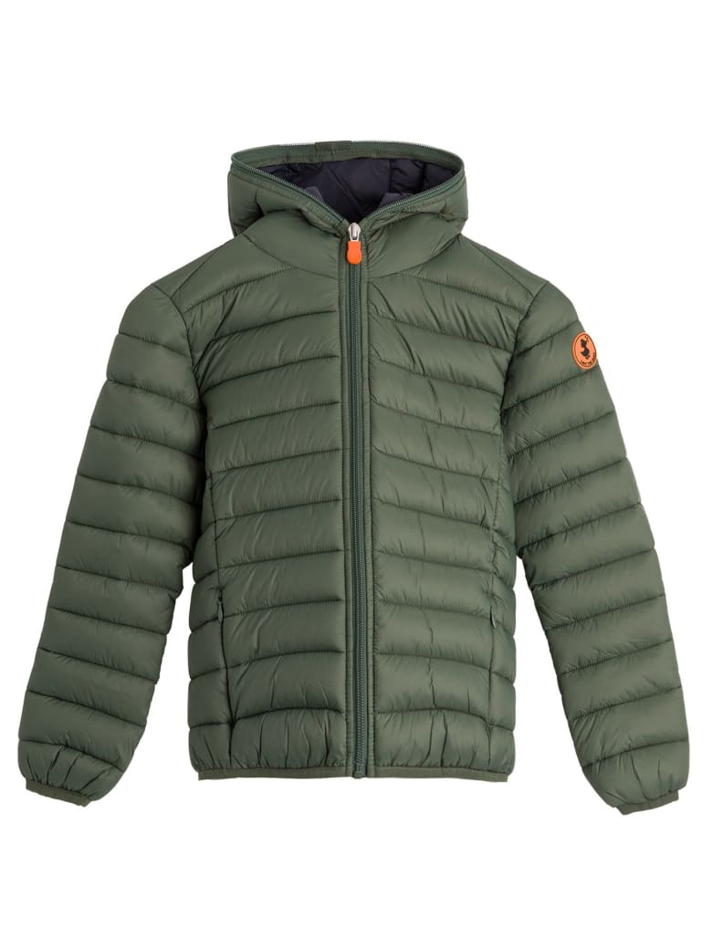 Save the Duck Hooded Puffer Jacket - Green
