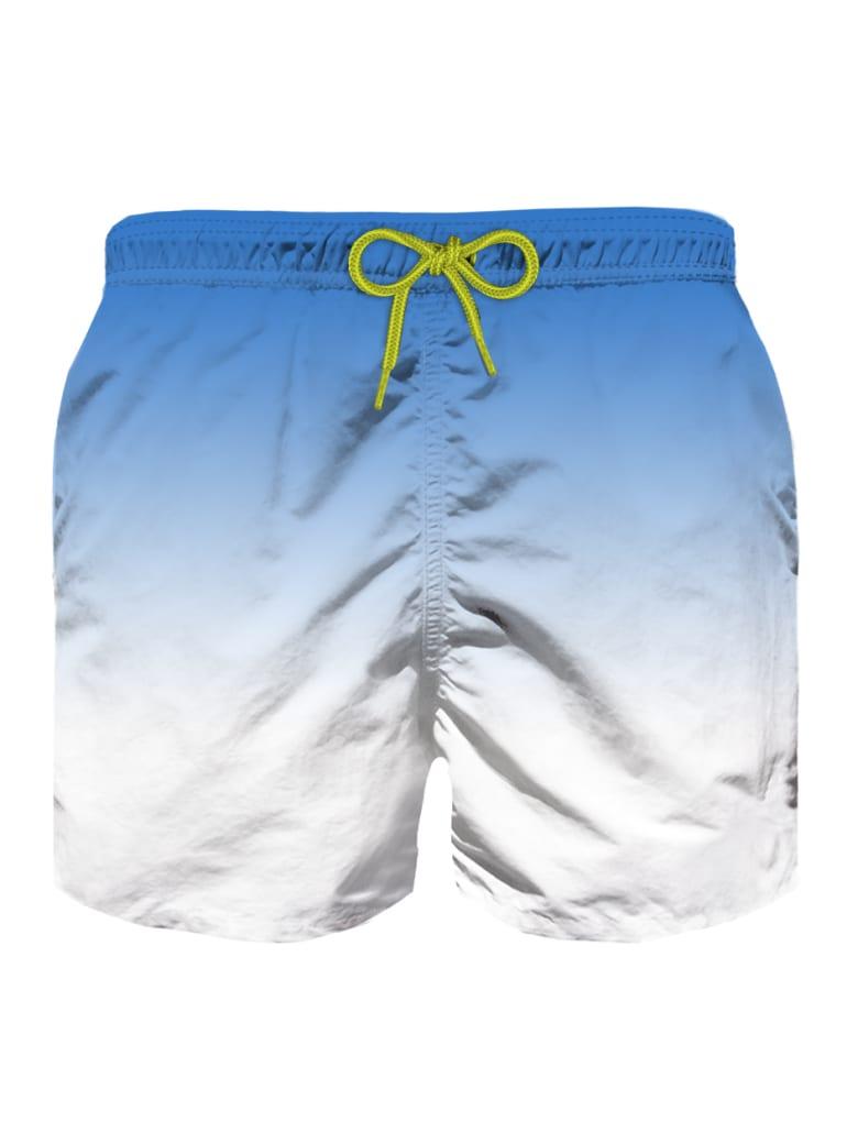 MC2 Saint Barth Bluette And White Gradient Print Boy Swim Shorts