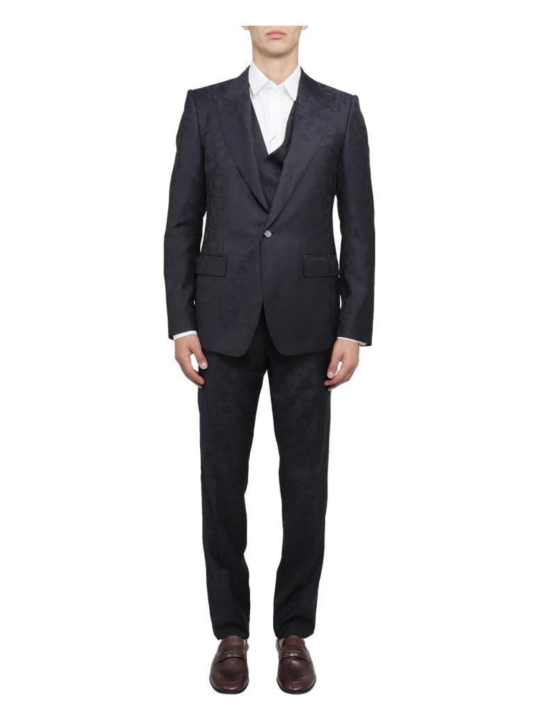 Dolce & Gabbana Camouflage Suit - Blue