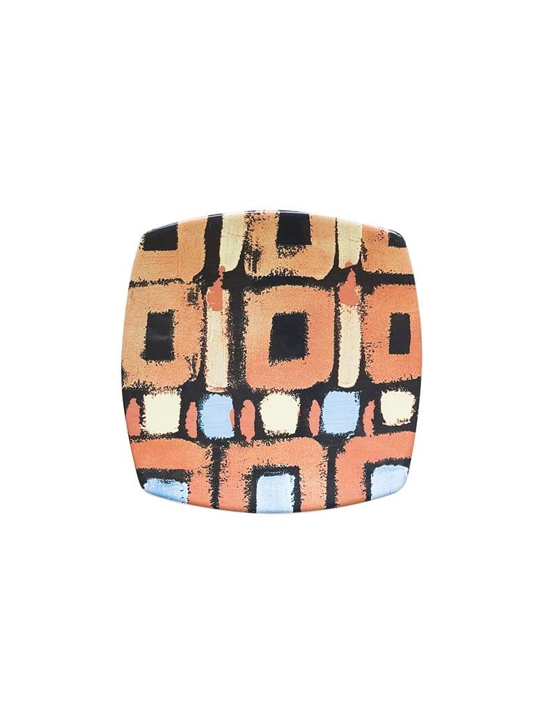Le Botteghe su Gologone Plates Square Ceramic Colores 20,5x20,5 Cm - Orange