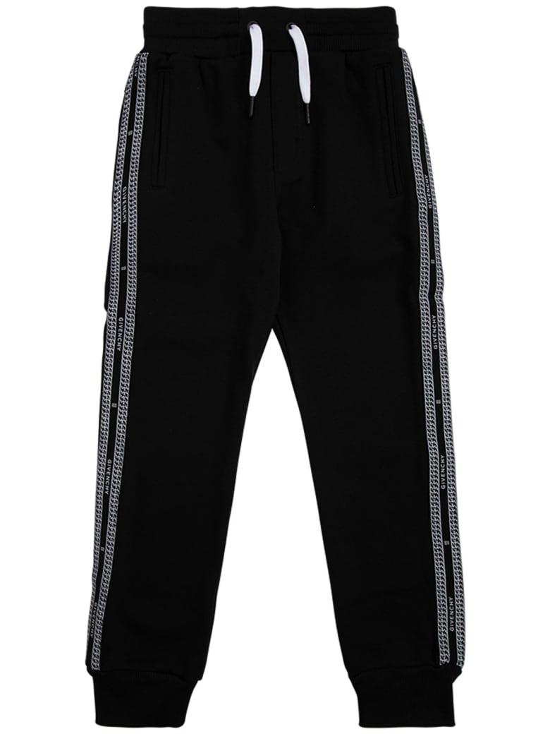 Givenchy Black Cotton Blend Joggers - Black