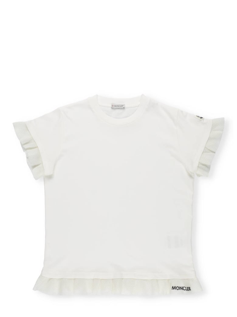 Moncler T-shirt With Trims - White