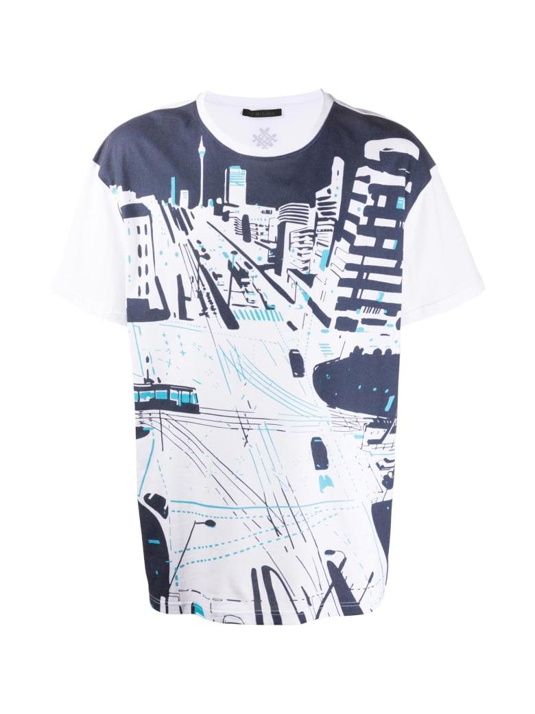 Mr & Mrs Italy Yts0042 Printed Oversize T-shirt - WHITE