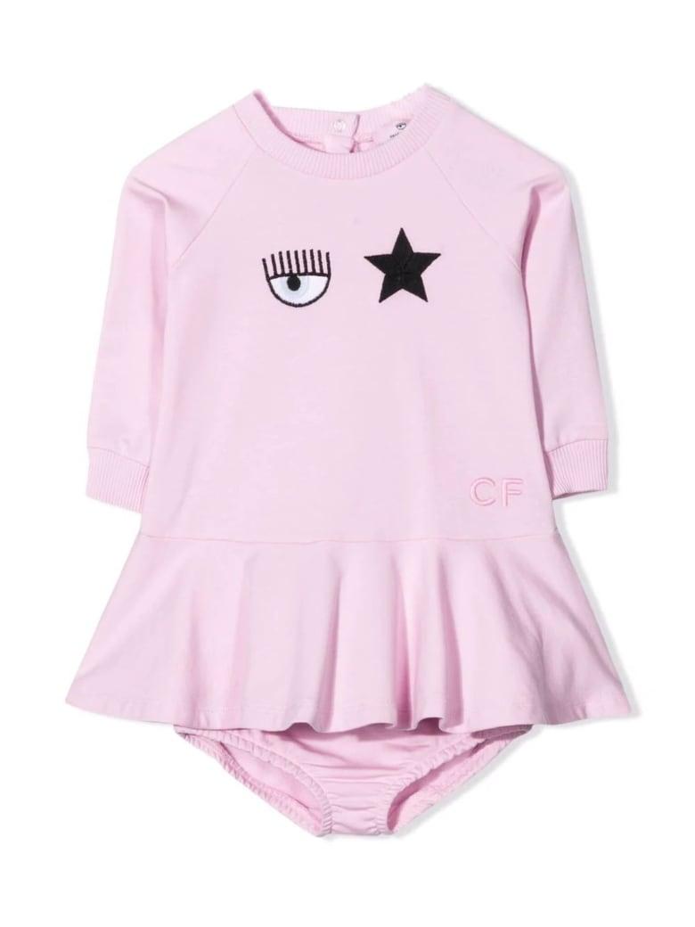 Chiara Ferragni Light Pink Stretch-cotton Dress - Rosa