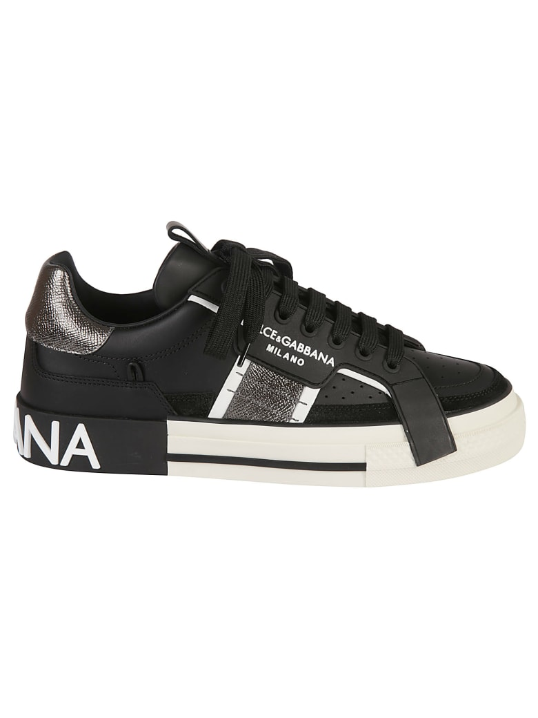 Dolce & Gabbana Side Logo Sneakers - Black