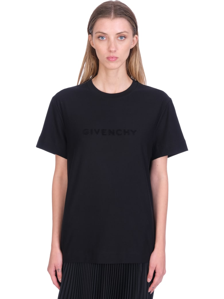 Givenchy T-shirt In Black Cotton - black