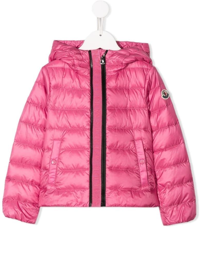 Moncler Glycine Down Jacket In Pink Nylon - Pink