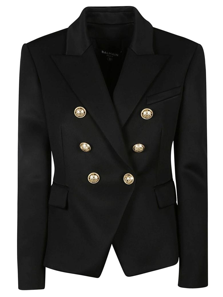 Balmain Regular Fit Double-breasted Dinner Jacket - Nero