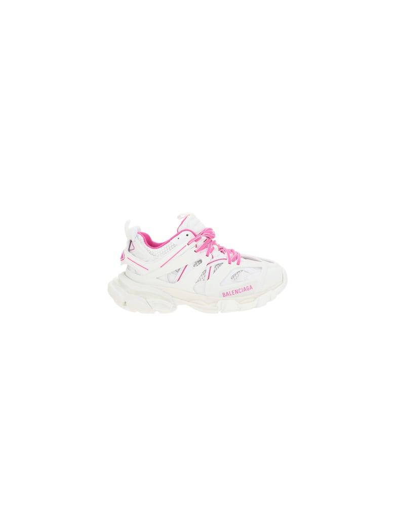 Balenciaga Track Sneakers - White/fluo pink