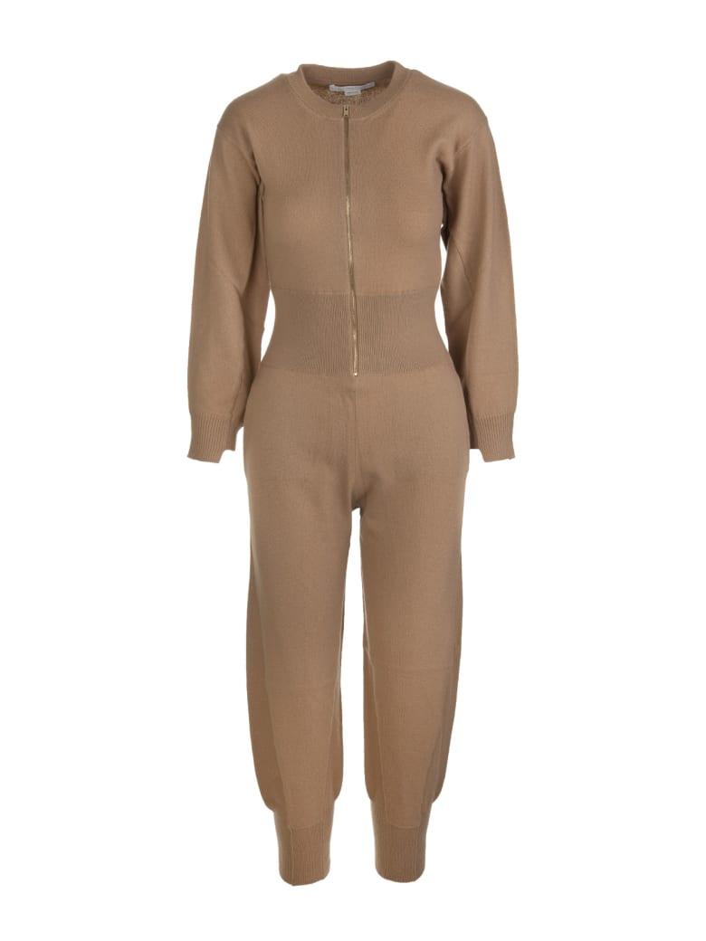 Stella McCartney Camel Wool Jumpsuit - Cammello