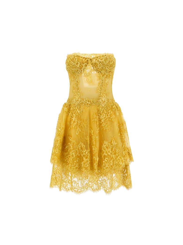 Ermanno Scervino Mini Dress - Endive/giallo
