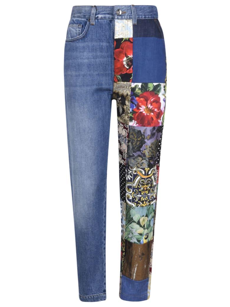 Dolce & Gabbana Multi-patched Denim Jeans - Multicolor