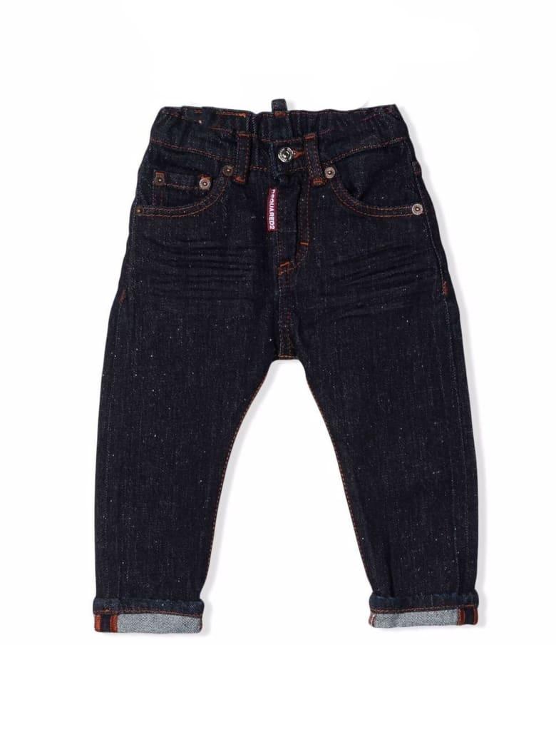 Dsquared2 Indigo Blue Stretch Cotton Denim Jeans - Denim