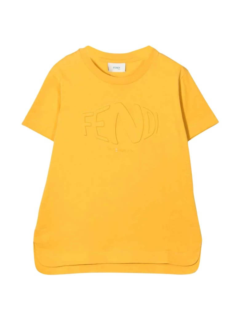 Fendi Yellow Unisex T-shirt - Gialla