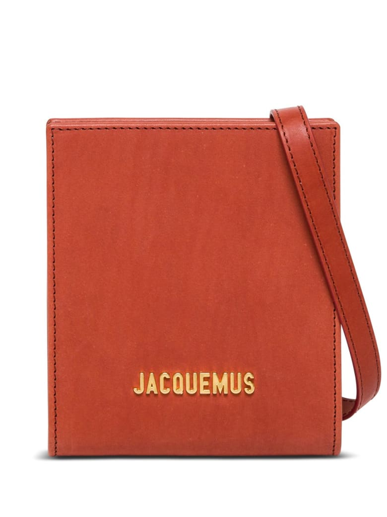 Jacquemus Le Gadjo Crossobody Bag In Brick Red Leather - Red