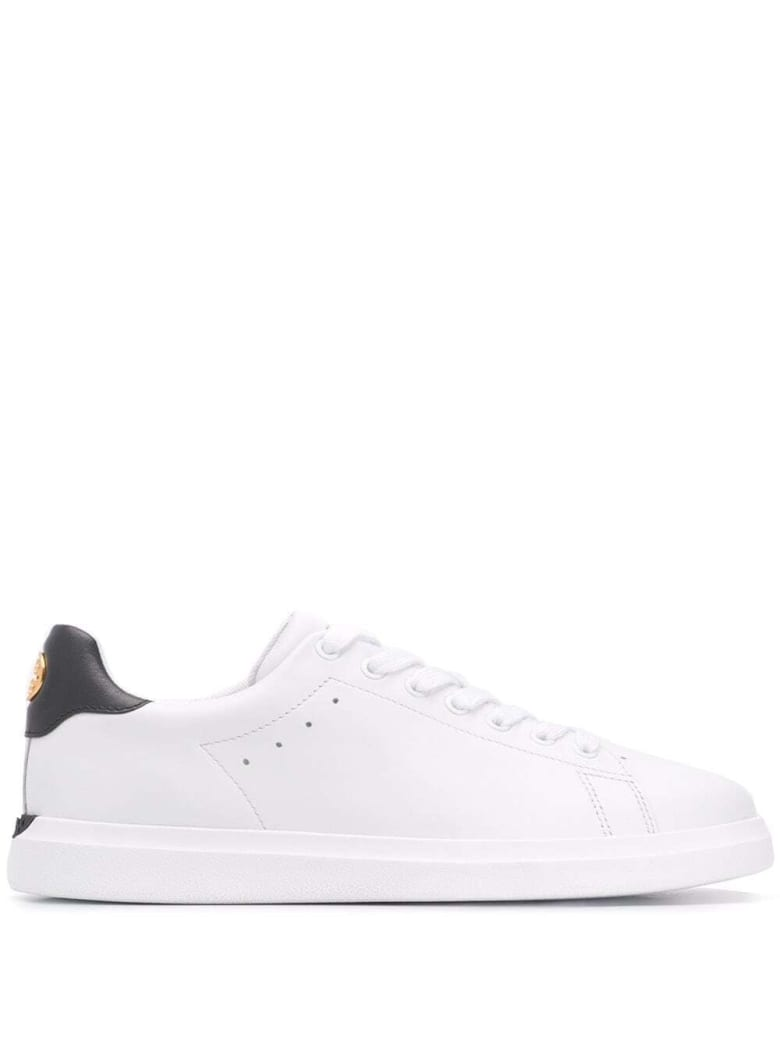 Tory Burch White Leather Sneakers With Logo - White