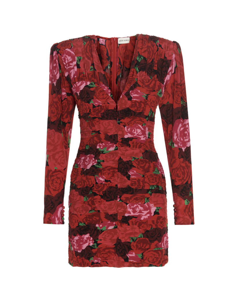 Magda Butrym Printed Rose Dress - Red