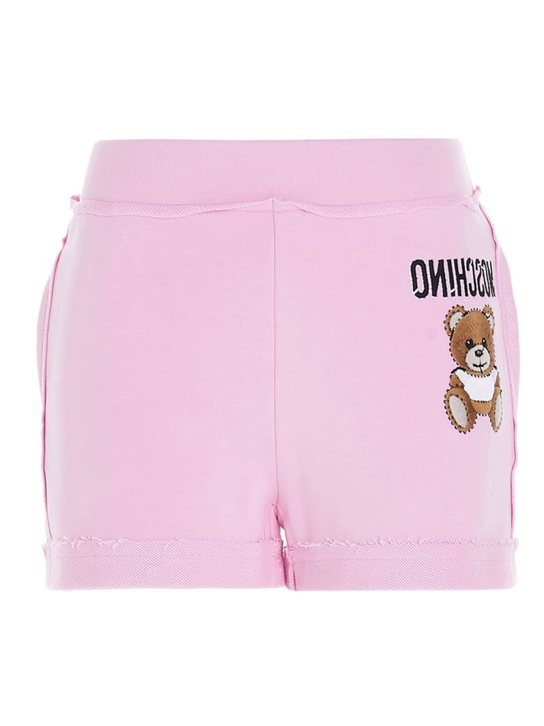 Moschino 'teddy Reverse' Shorts - Pink