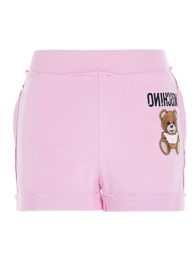 Moschino 'teddy Reverse' Shorts - Pink