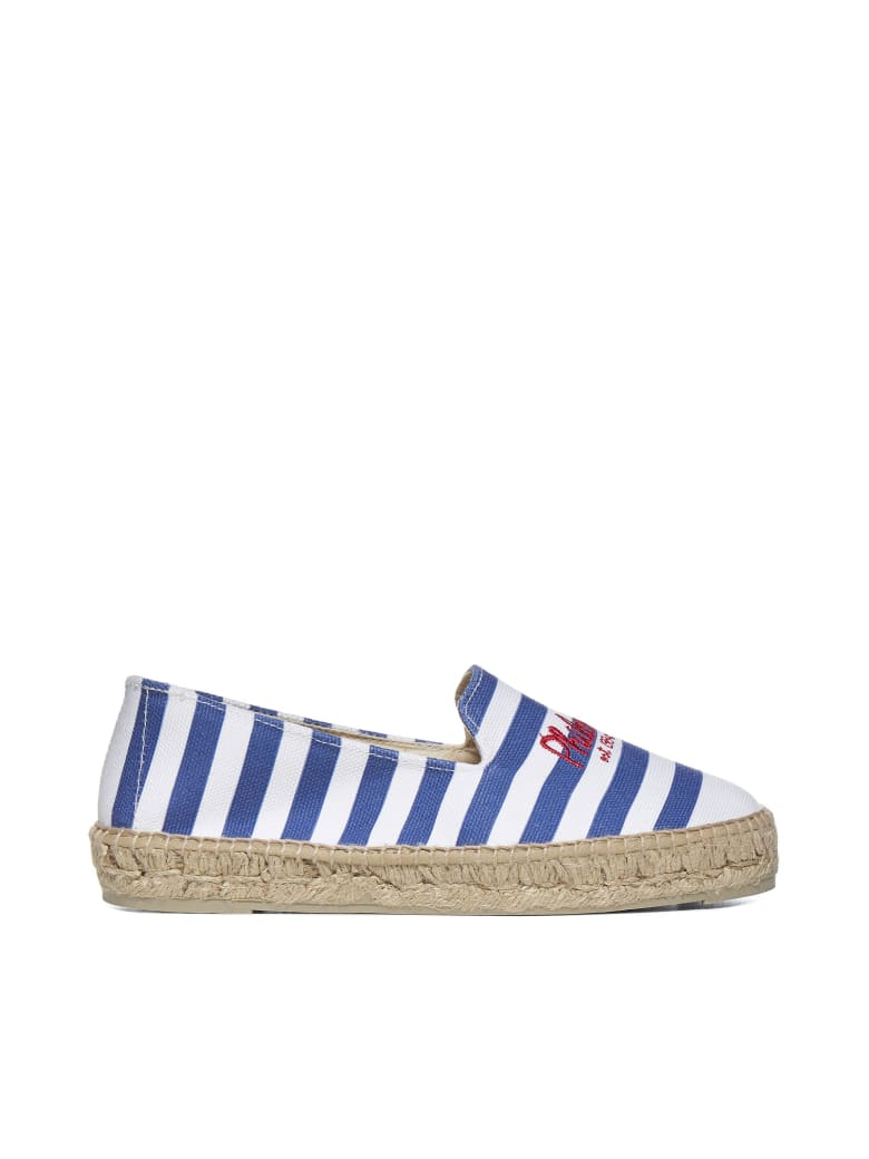 Philosophy x Manebí Flat Shoes - White blue