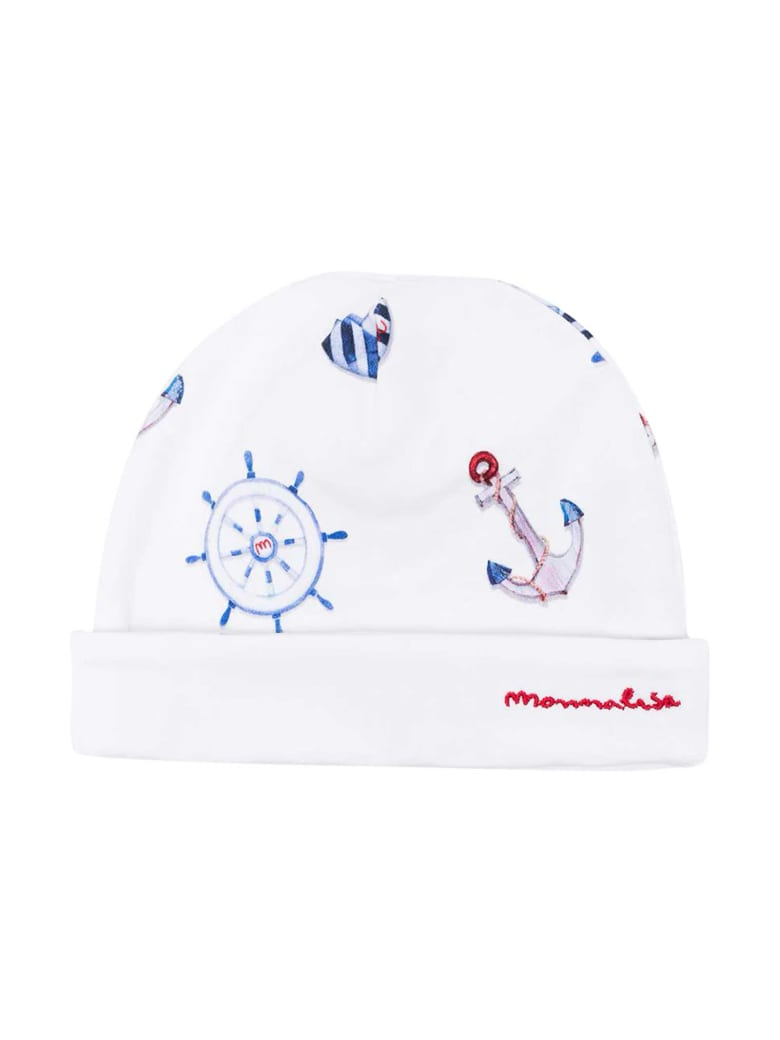 Monnalisa Cap With Embroidery - Unica