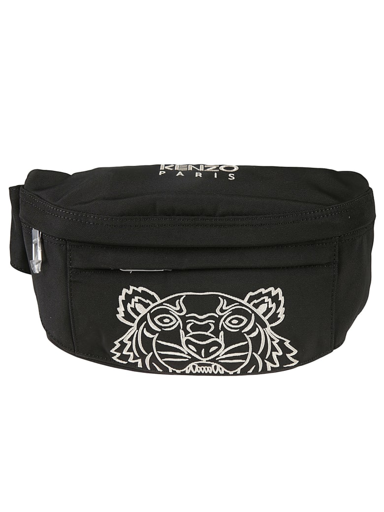 Kenzo Spring Embroidered Belt Bag - Black