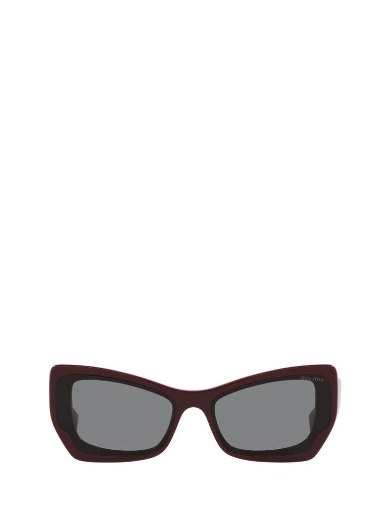 Miu Miu Miu Miu Mu 07xs Pink Bordeaux Sunglasses - Pink Bordeaux