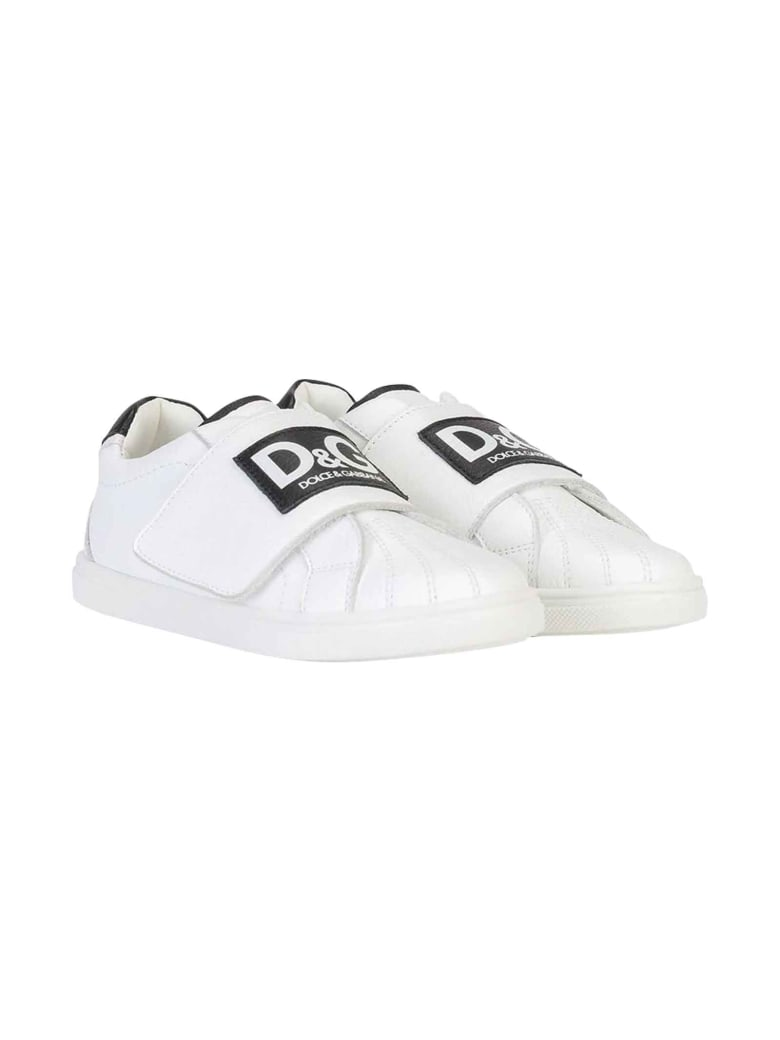 Dolce & Gabbana White Sneakers - Bianco/nero