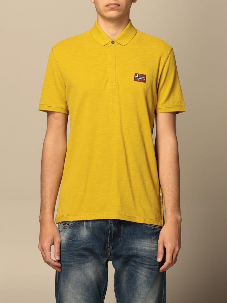 Napapijri Polo Shirt Ebea Napapijri Polo Shirt With Logo - Yellow