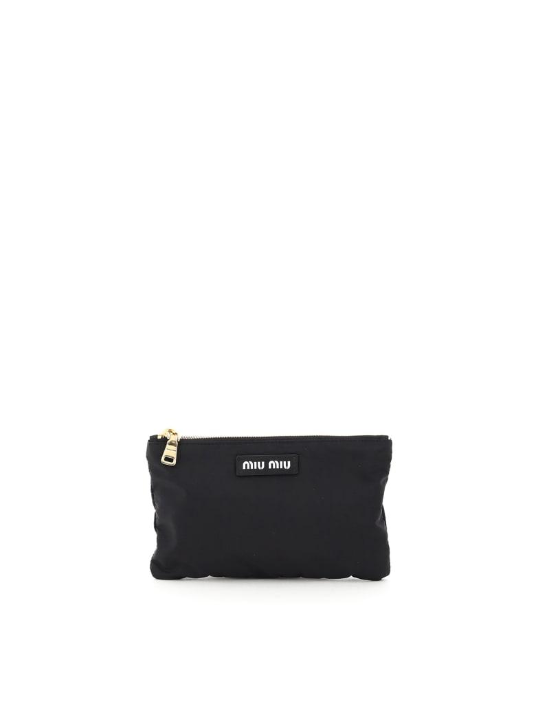 Miu Miu Foldable Nylon Tote Bag - BLACK
