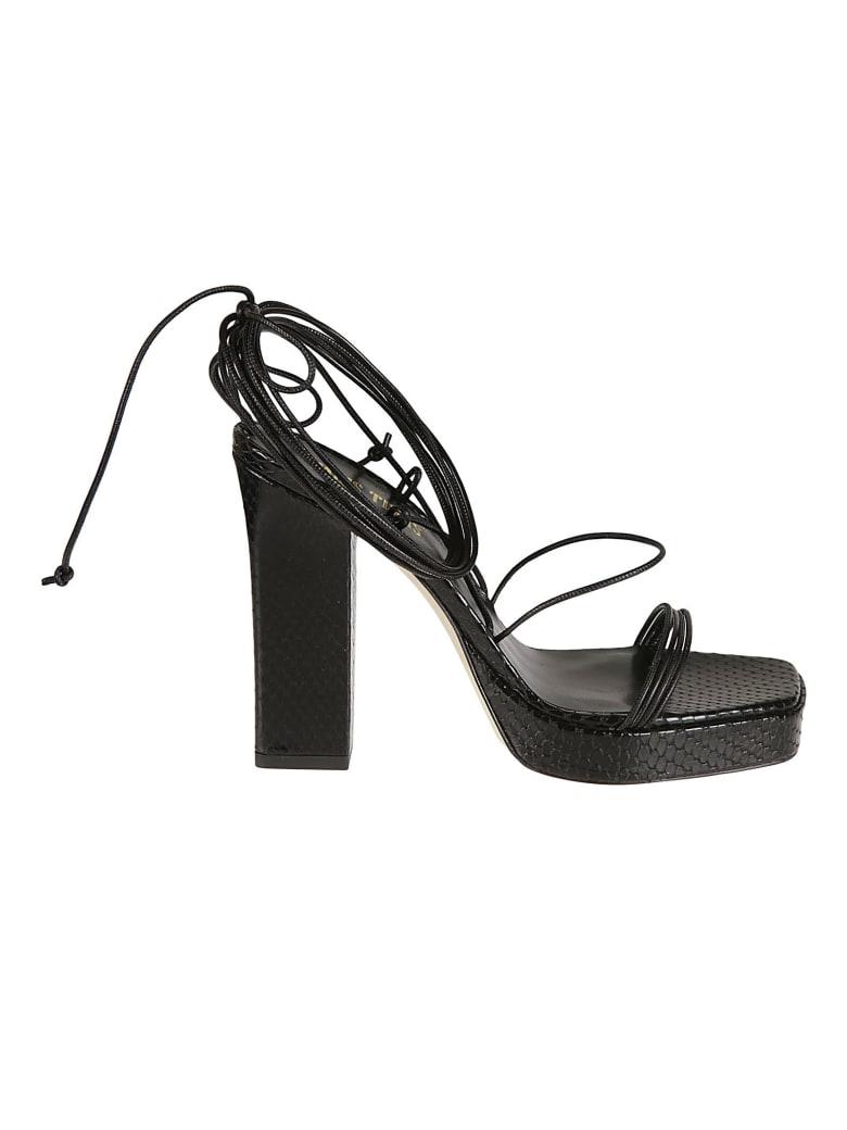 Paris Texas Carine Platform Sandals - Black