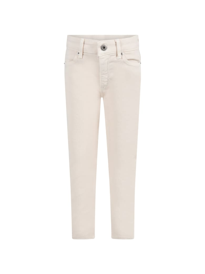 Dondup Ivory ''iris'' Jeans For Girl - Ivory