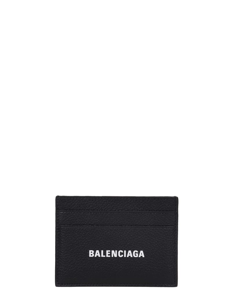 Balenciaga Wallet In Black Leather - black