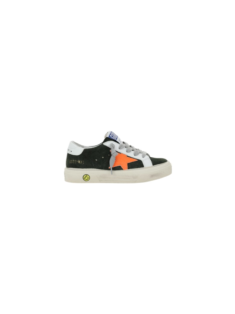 Golden Goose May Sneakers For Girl - Military