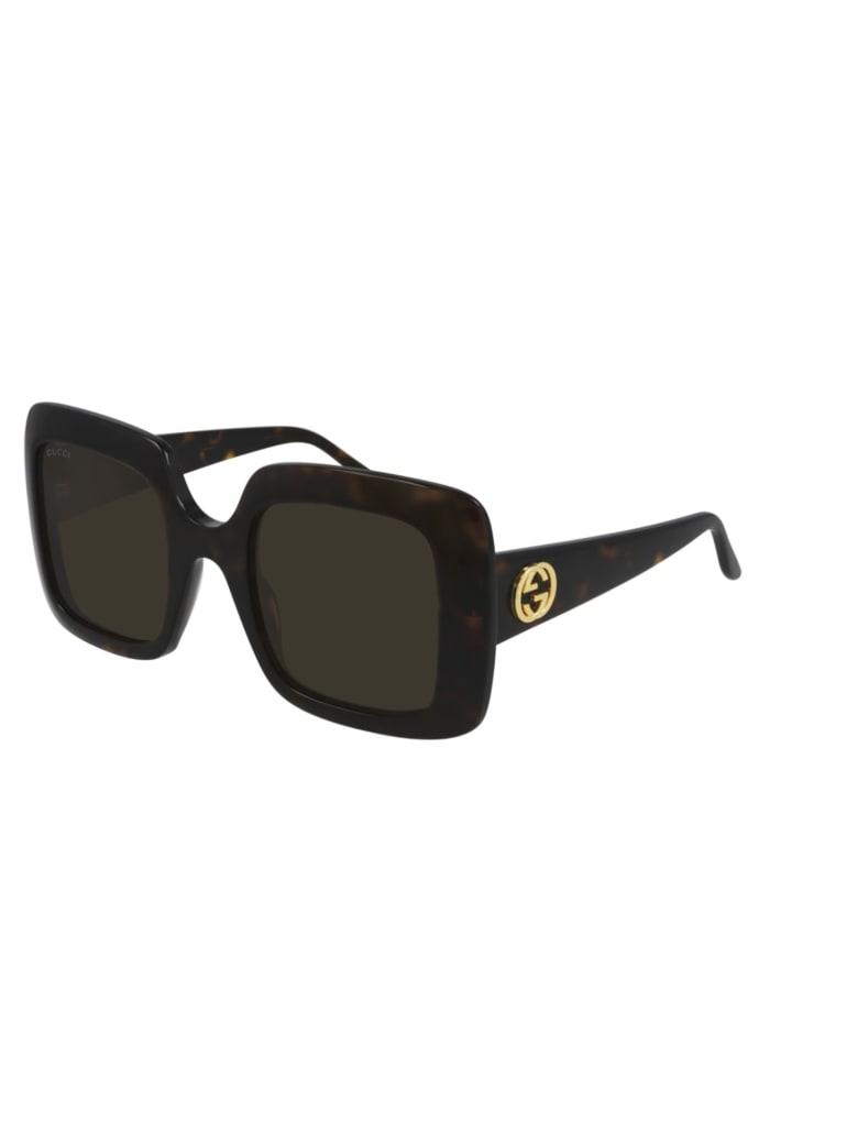Gucci GG0896S Sunglasses - Havana Havana Brown