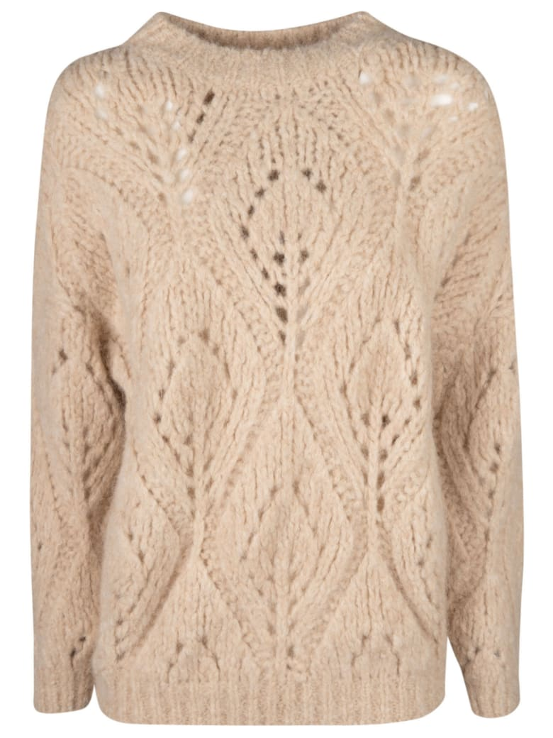 Brunello Cucinelli Perforated Ribbed Sweater - Beige
