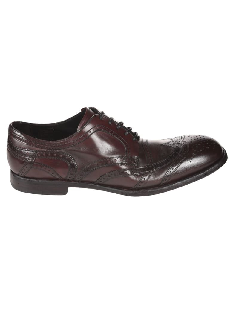 Dolce & Gabbana Perforated Derby Shoes - Brown