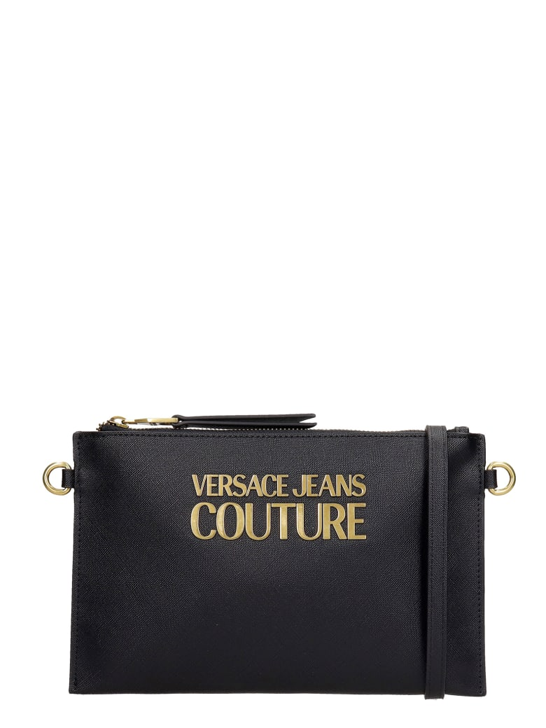 Versace Jeans Couture Clutch In Black Faux Leather - black