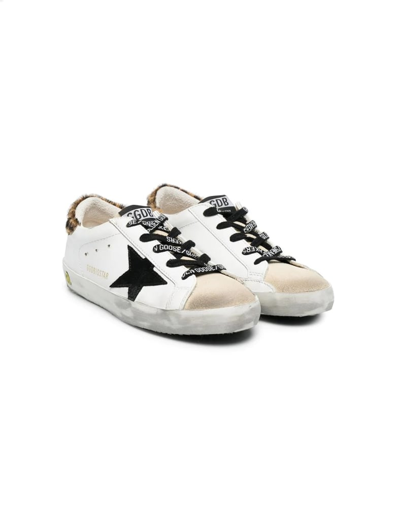 Golden Goose Sneakers With Spotted Back And Black Star - Bia-begie-leopardato