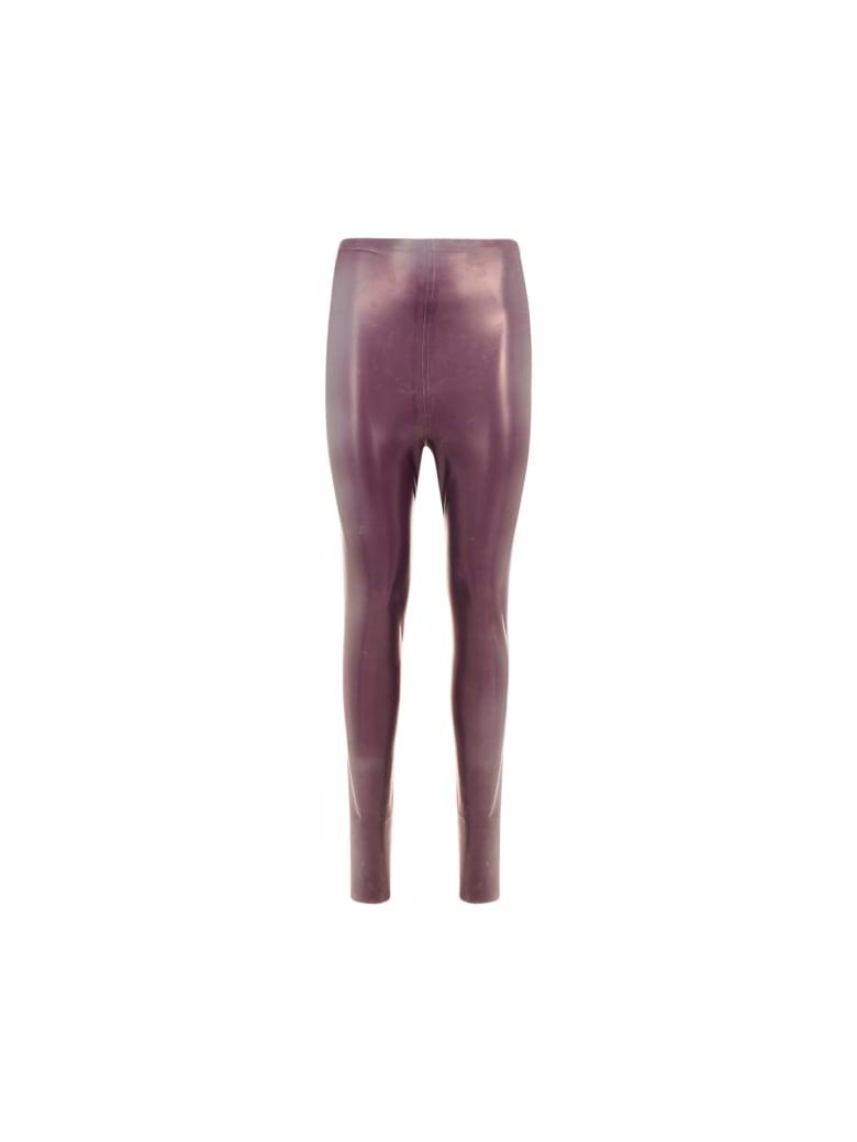 Saint Laurent Latex Pants - Ruby