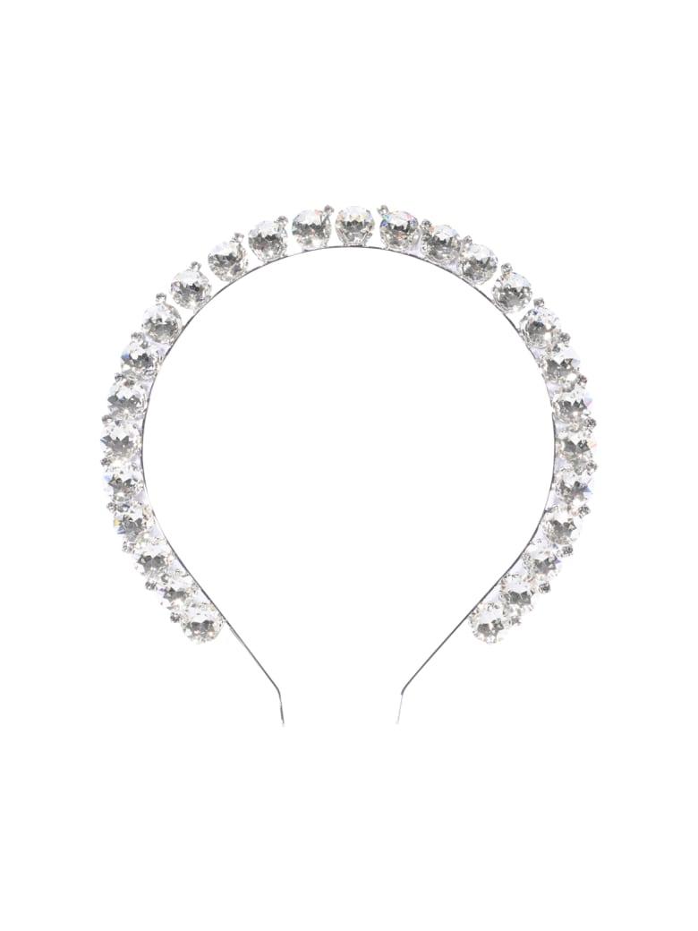 Alessandra Rich Crystal Headband - Silver
