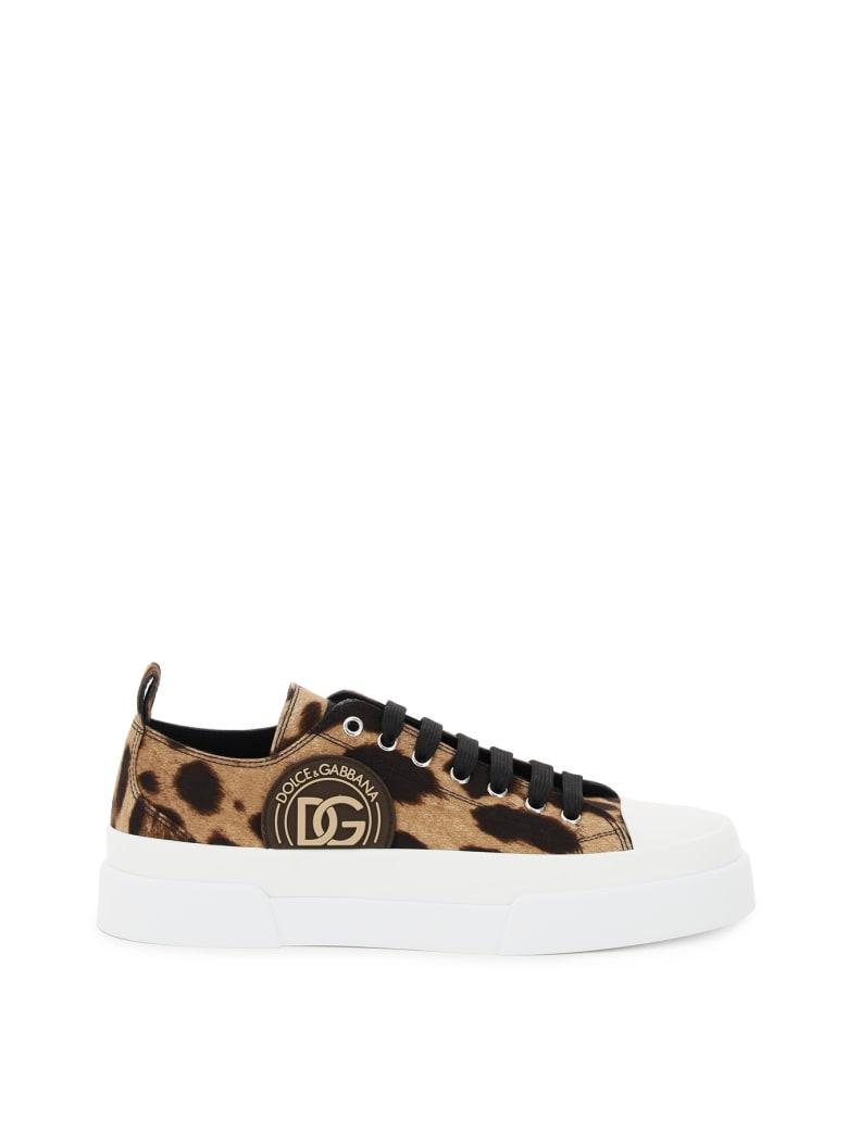 Dolce & Gabbana Low Top Sneakers - Leopard