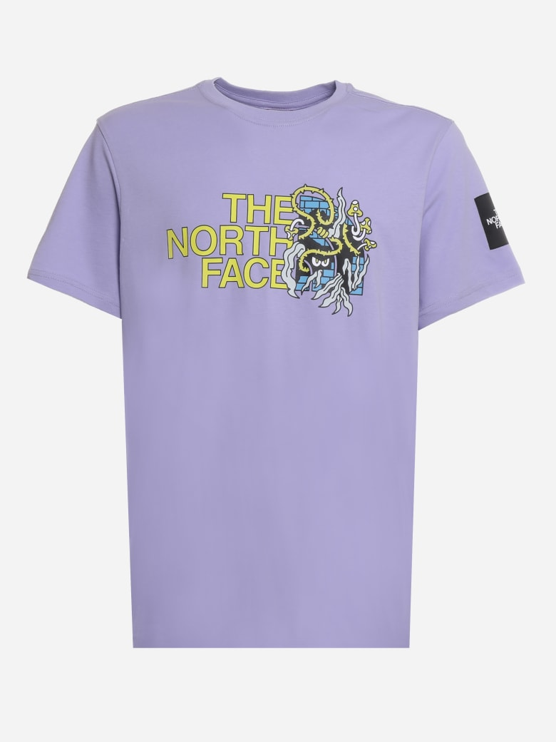 The North Face Cotton T-shirt With Graphic Print - Lavender